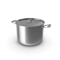 Stainless Steel Stock Pot PNG & PSD Images