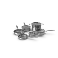 Stainless Steel Cookware Set PNG & PSD Images