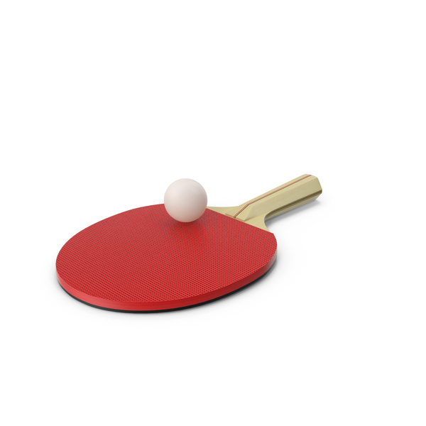 Ping Pong Paddle with Ball PNG & PSD Images