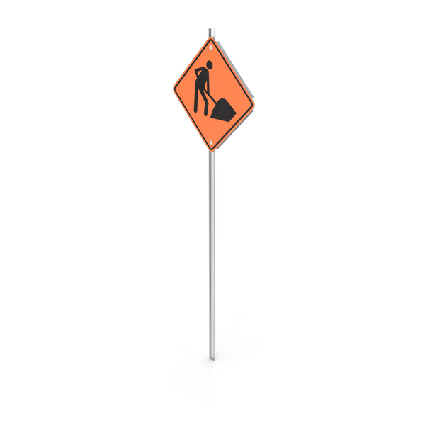Construction Work Sign PNG & PSD Images