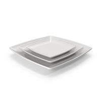 Ceramic Serving Plate Set PNG & PSD Images