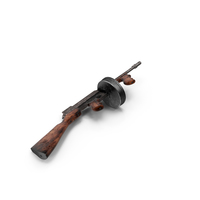 Tommy Gun Aged PNG & PSD Images