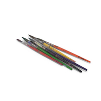 Used Paint Brushes PNG & PSD Images