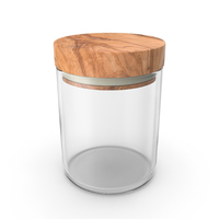 Kitchen Jar with Wood Lid PNG & PSD Images