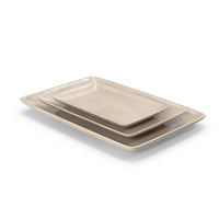 Pottery Serving Plate Set PNG & PSD Images