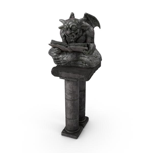 Fantasy Gargoyle Statue PNG & PSD Images