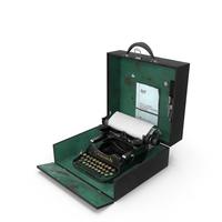 Vintage Corona Portable Typewriter PNG & PSD Images