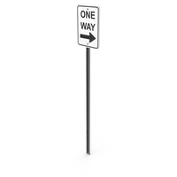 One Way Sign PNG & PSD Images