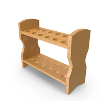 Wooden Test Tube Rack PNG & PSD Images