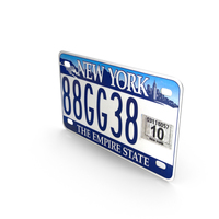 New York State License Plate PNG & PSD Images