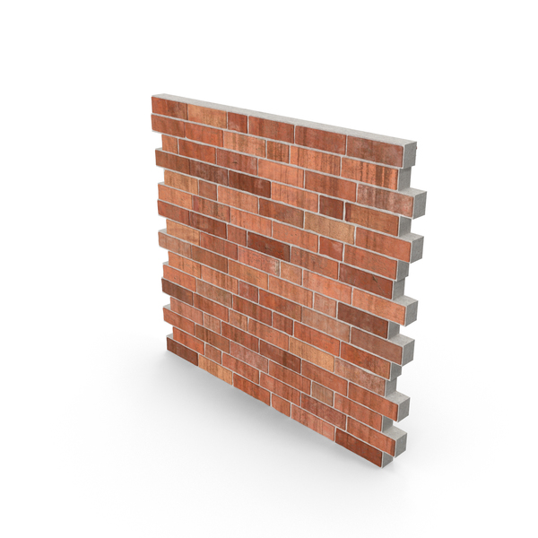 Brick Wall Section PNG & PSD Images