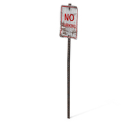 Destroyed No Parking Sign PNG & PSD Images