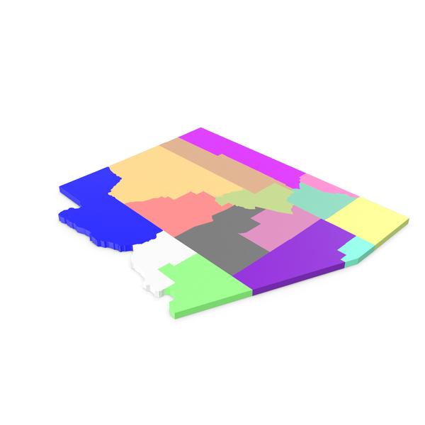 Arizona Counties Map PNG & PSD Images