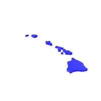 Hawaii Counties Map PNG & PSD Images