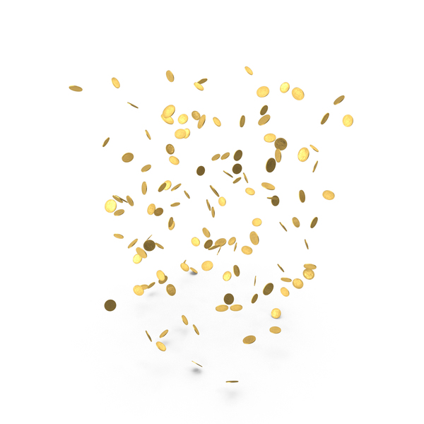Falling Gold Doubloons PNG & PSD Images