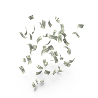 Falling US 100 Dollar Bills PNG & PSD Images