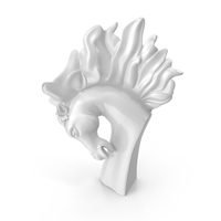 Stallion Bust Statue PNG & PSD Images