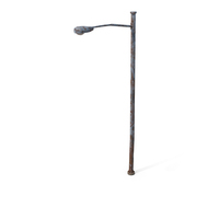 Destroyed Street Lamp PNG & PSD Images