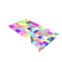 South Dakota Counties Map PNG & PSD Images