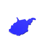 West Virginia Counties Map PNG & PSD Images