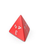 Polyhedral 4 Sided Die PNG & PSD Images