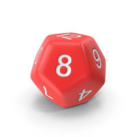 Polyhedral 12 Sided Die PNG & PSD Images