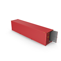 Red Shipping Container PNG & PSD Images