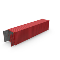 40 ft Long Shipping Container PNG & PSD Images