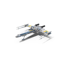 Blue X-Wing Starfighter PNG & PSD Images