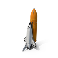 Space Shuttle With External Tank PNG & PSD Images