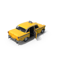 Vintage NYC Checker Taxi PNG & PSD Images