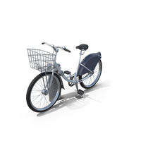 City Bicycle & Stand PNG & PSD Images