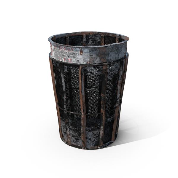 Destroyed New York Garbage Bin PNG & PSD Images
