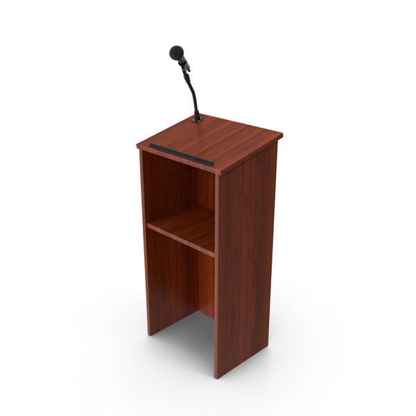 Podium with Microphone Object