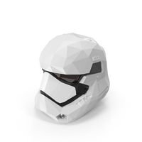 Low Poly Stormtrooper Helmet PNG & PSD Images