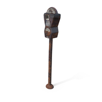 Aged Parking Meter PNG & PSD Images