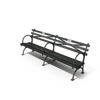 Aged Park Bench PNG & PSD Images