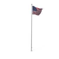 Raised American Flag PNG & PSD Images