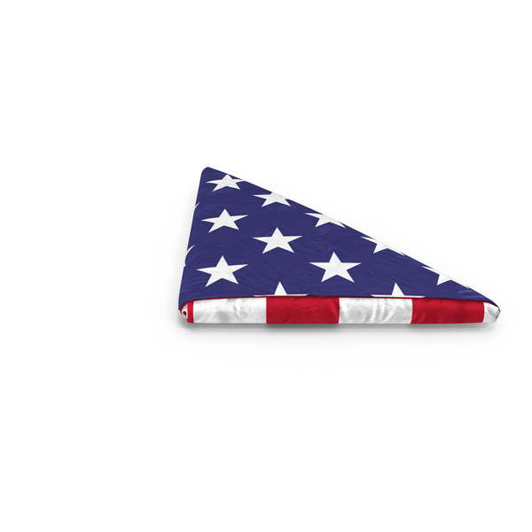Folded American Flag PNG & PSD Images