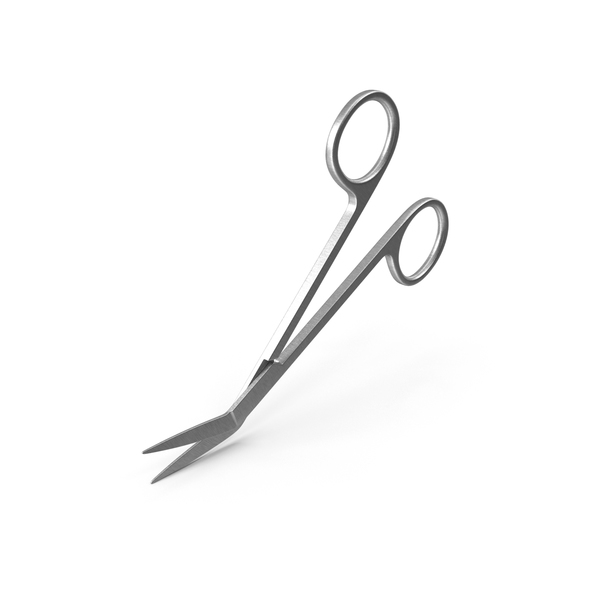 Angled Medical Scissors PNG & PSD Images