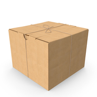 Cardboard Box with Twine PNG & PSD Images