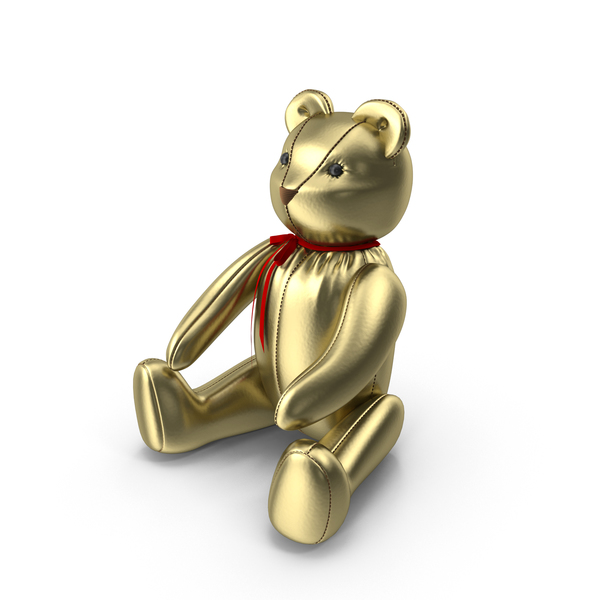 Gold Teddy Bear Object