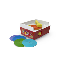 Vintage Fisher Price Record Player PNG & PSD Images