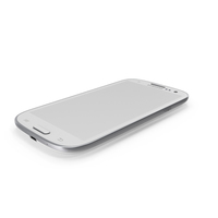 White Samsung Galaxy S III PNG & PSD Images