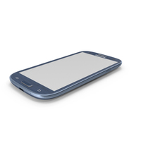 Blue Samsung Galaxy S III PNG & PSD Images
