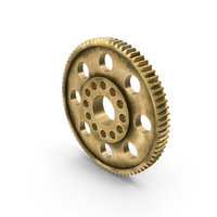 Aged Brass Spur Gear PNG & PSD Images