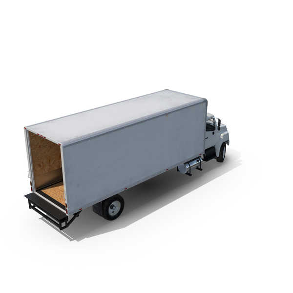 Box Truck with Open Gate PNG & PSD Images