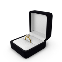 Diamond Ring in Box PNG & PSD Images