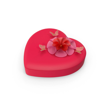 Heart Shaped Box of Chocolates PNG & PSD Images