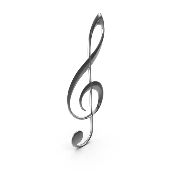 Silver Treble Clef PNG & PSD Images